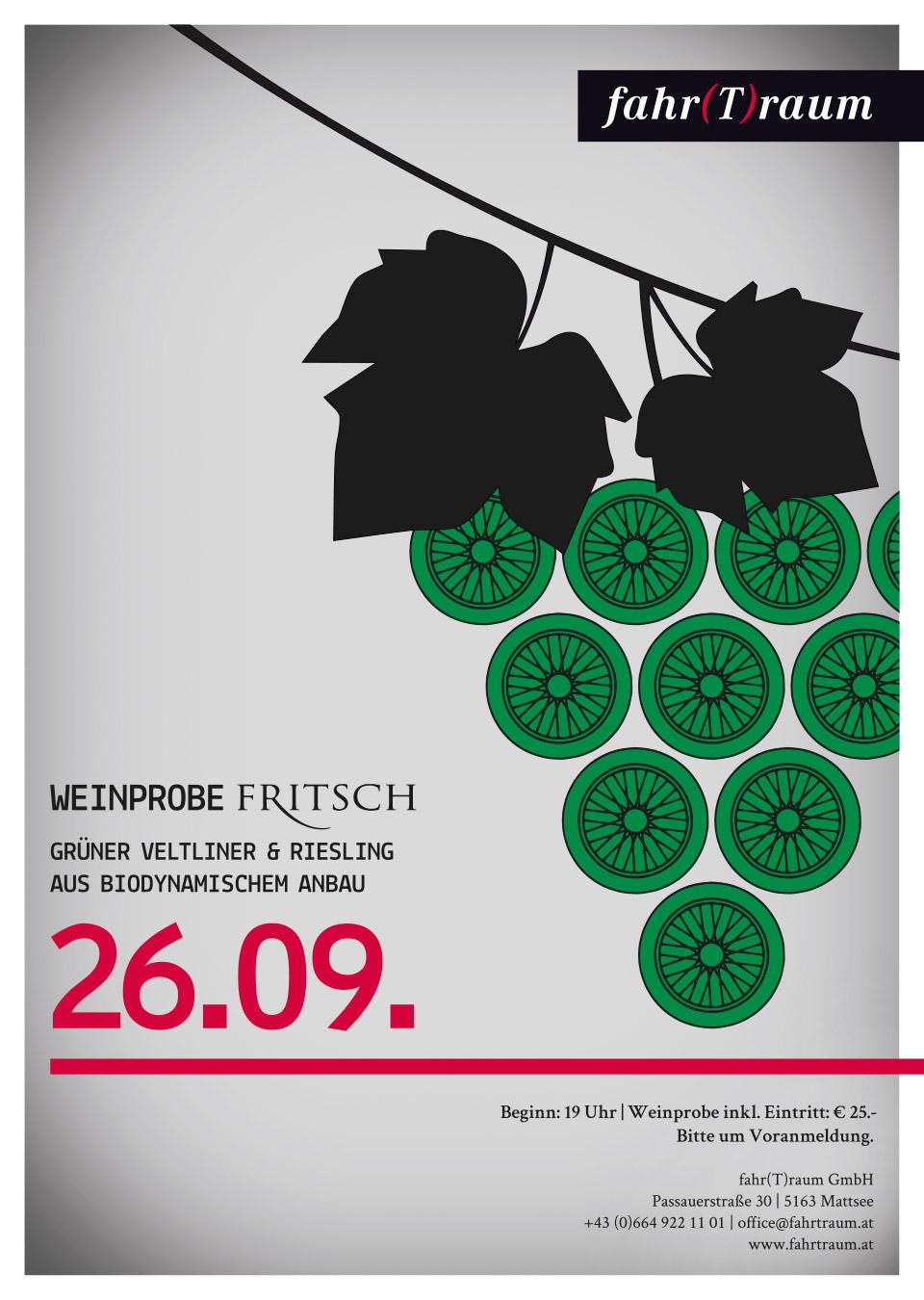 nachhaltiges grafik design salzburg 1410 fahrTraum Plakat weinverkostung