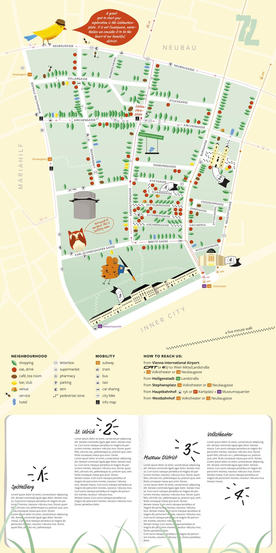 nachhaltiges grafik design 1609 Siebensternviertel Map Summer2017