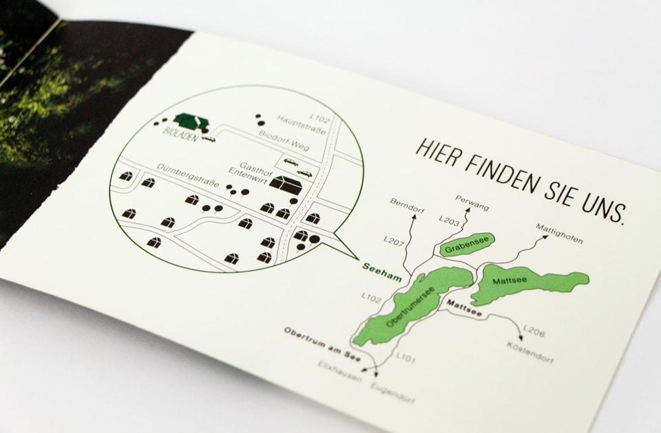 nachhaltiges grafik design salzburg bioladen seeham broschüre