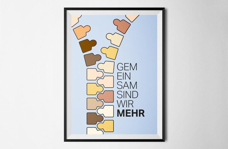 nachhaltiges grafik design salzburg gemeinsam sind wir mehr plakat