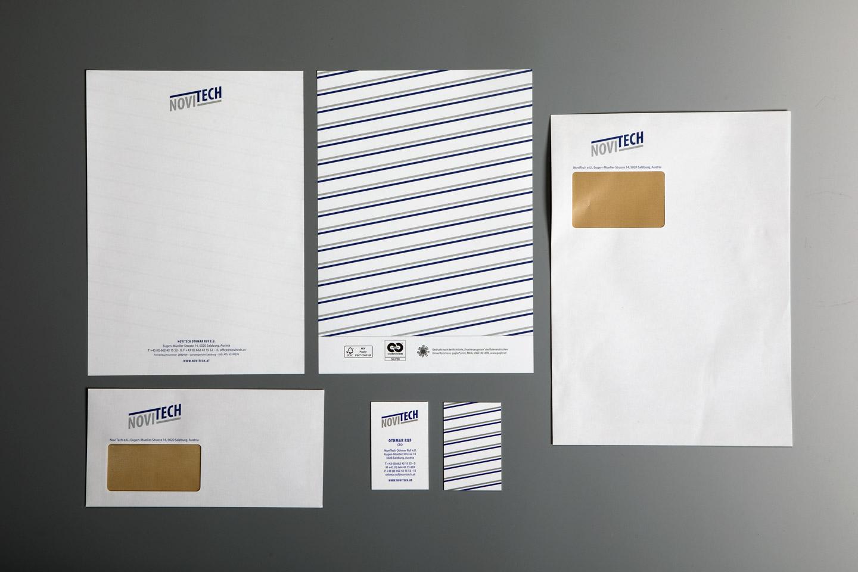 nachhaltiges grafik design salzburg novitech geschaeftsdrucksorten
