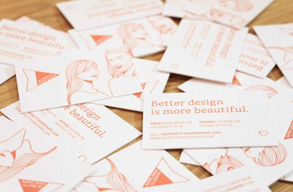 nachhaltiges grafik design salzburg ipgs visitenkarten 600g gmund prägung grafikdesign