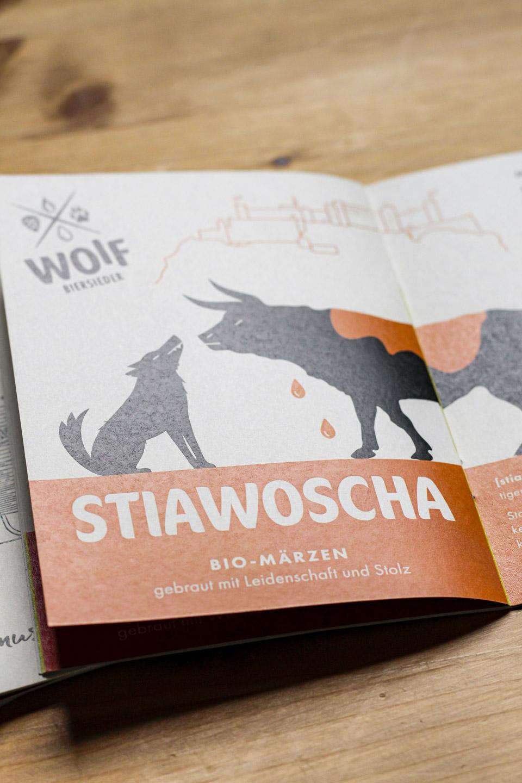 nachhaltiges grafik design salzburg woif broschuere stiawoscha