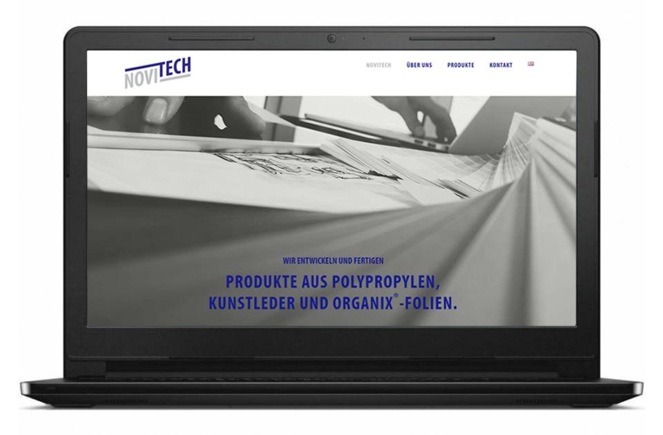 nachhaltiges web design salzburg Novitech website