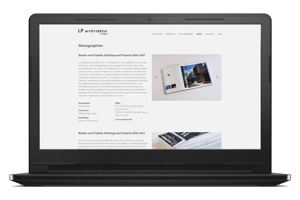 nachhaltiges web design salzburg lp architektur desktop