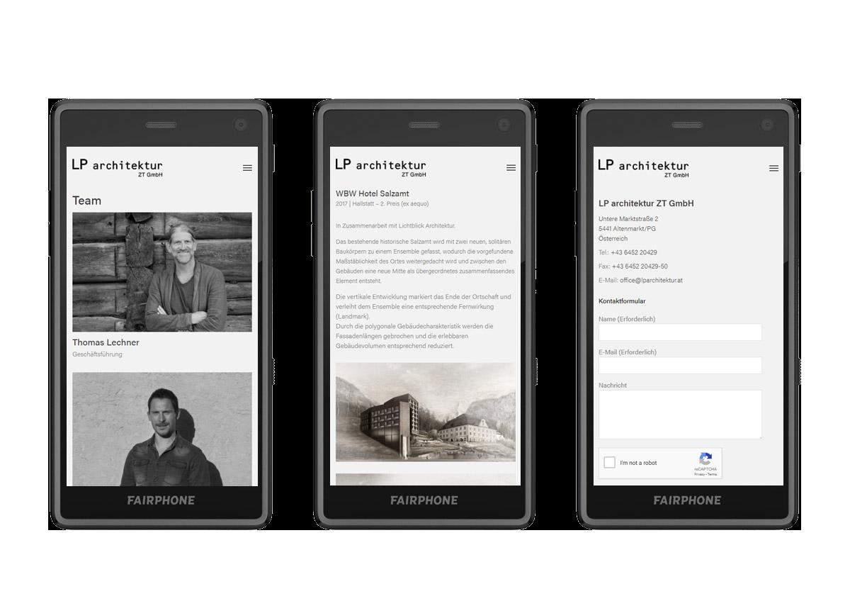 nachhaltiges web design salzburg lp architektur fairphone